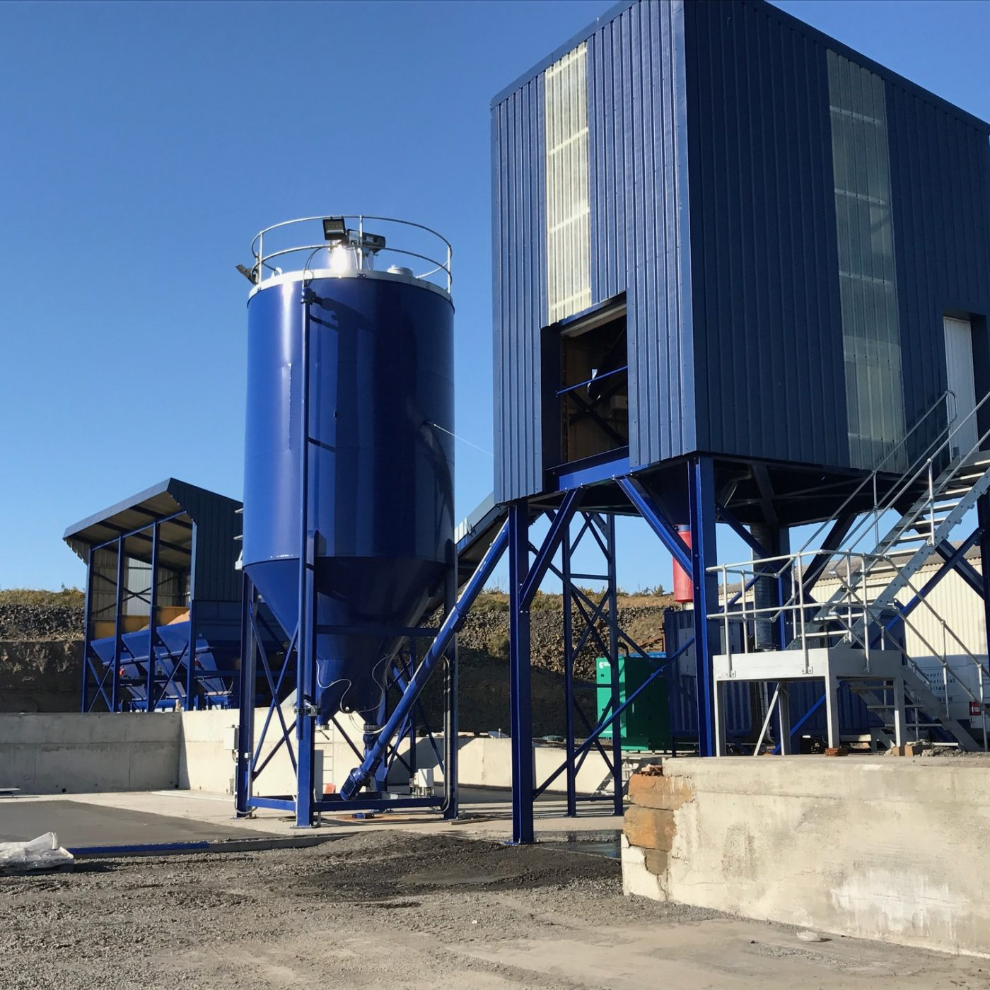 Bespoke Static Concrete Batching Plant Rapid
