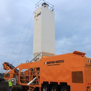 rapidmix mobile continuous concrete mixing plant pugmill