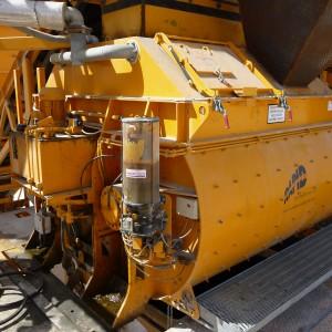 Rapid Twin Shaft Concrete Mixer Oil Refinery Project Saudi Arabia