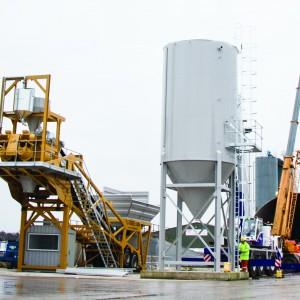 rapid transbatch compact mobile concrete batching plant