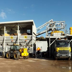 Hoddam Scotland fixed static bespoke concrete batching plant