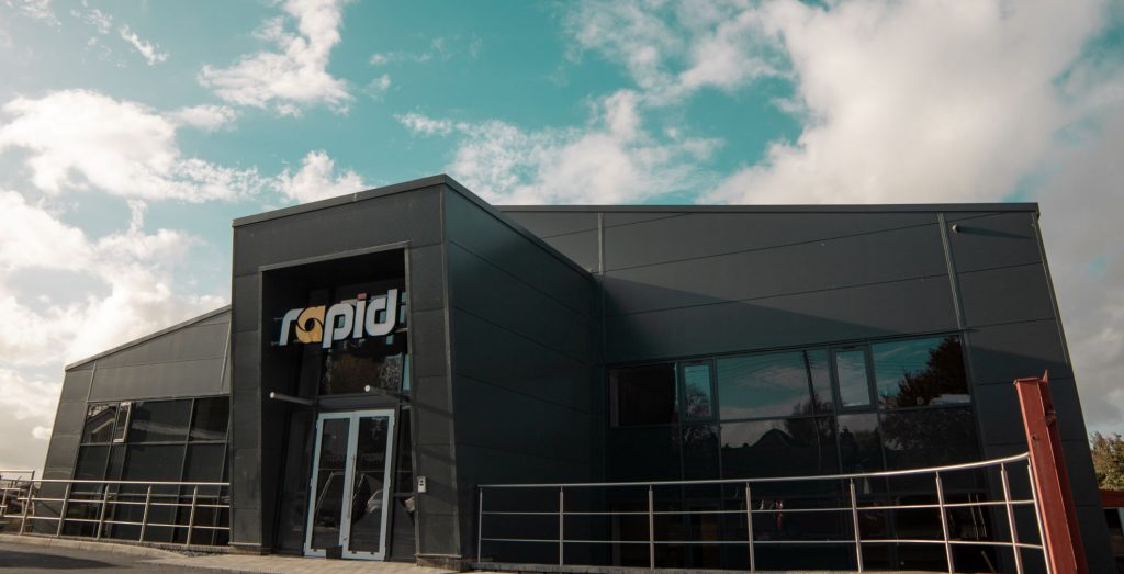 rapid international new factory headquarters facade image