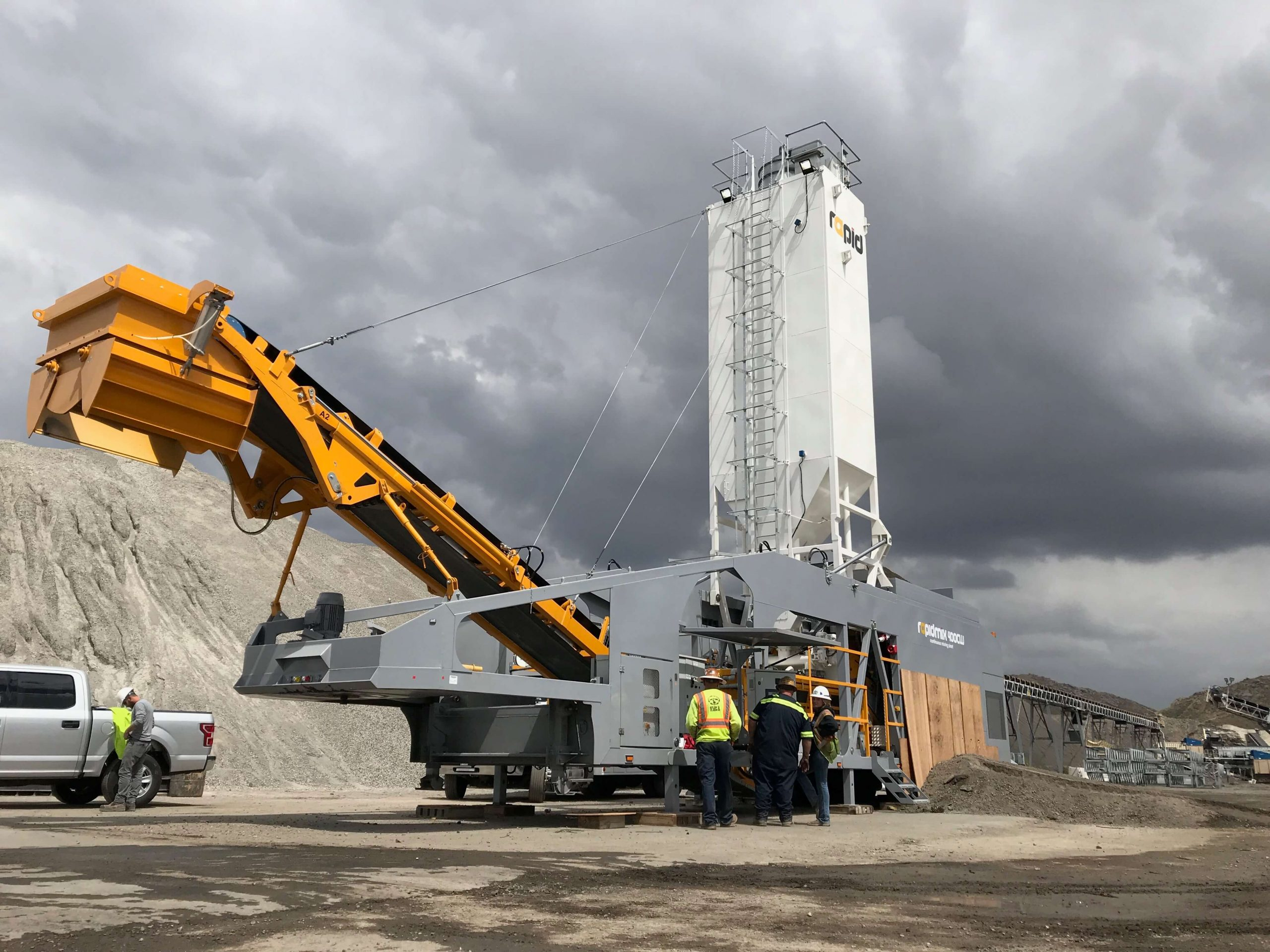 New Rapidmix 400CW mobile continuous mixing plant/pugmill for Pavement Recycling Systems for Port of Long Beach Middle Harbor Redevelopment Project.