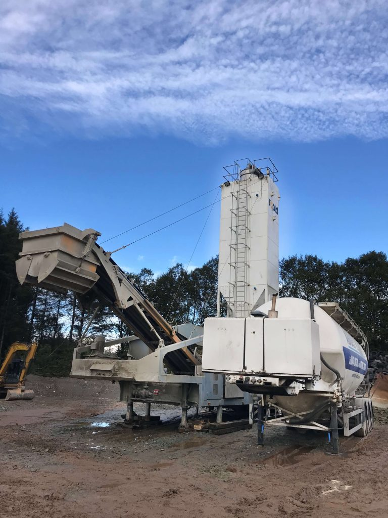 rapidmix 400cw mobile continuous mixing plant pugmill bentonite enriched soils allasso recycling