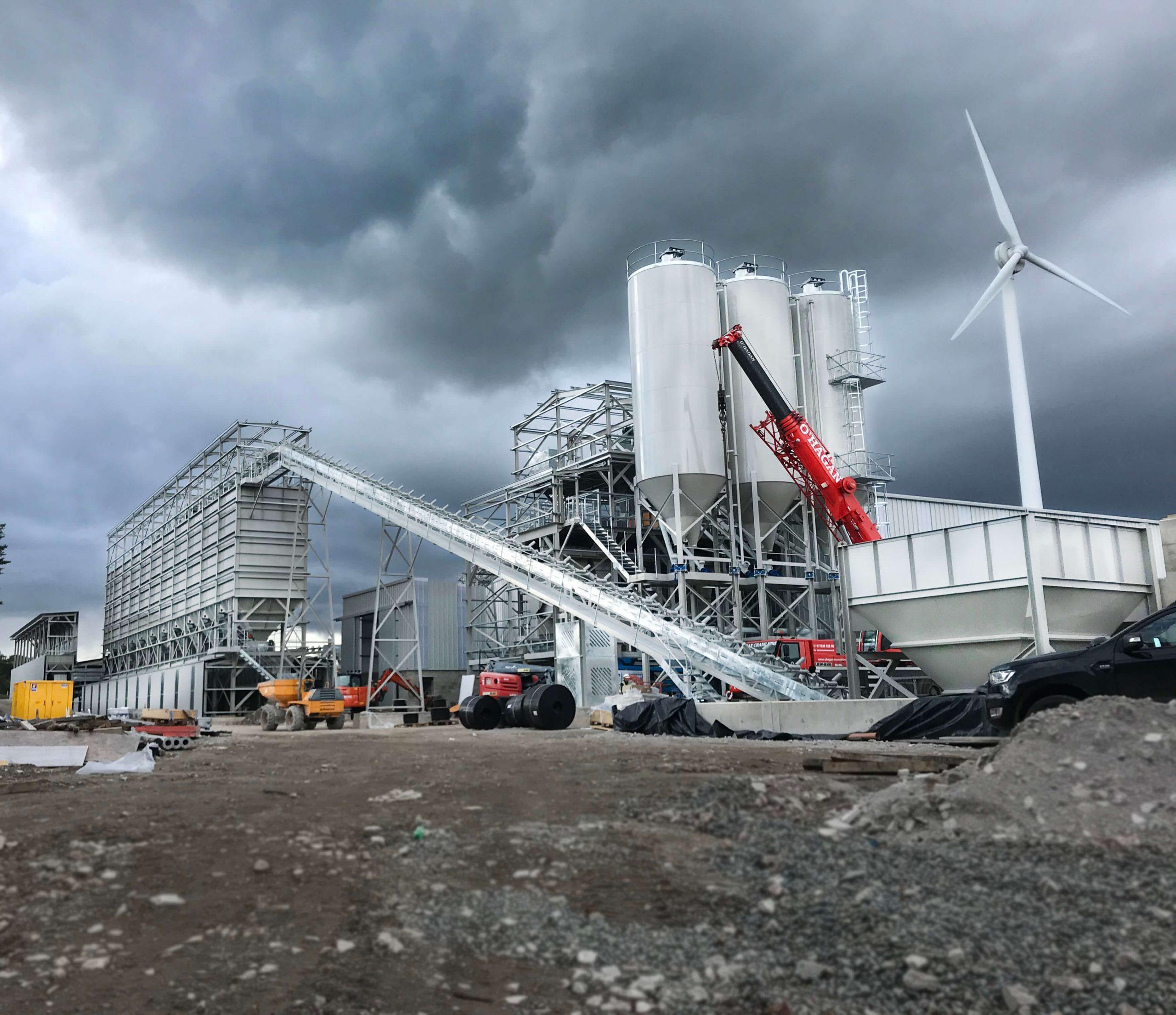 Tobermore Paving Rapid International bespoke static concrete batching plant manufacturer